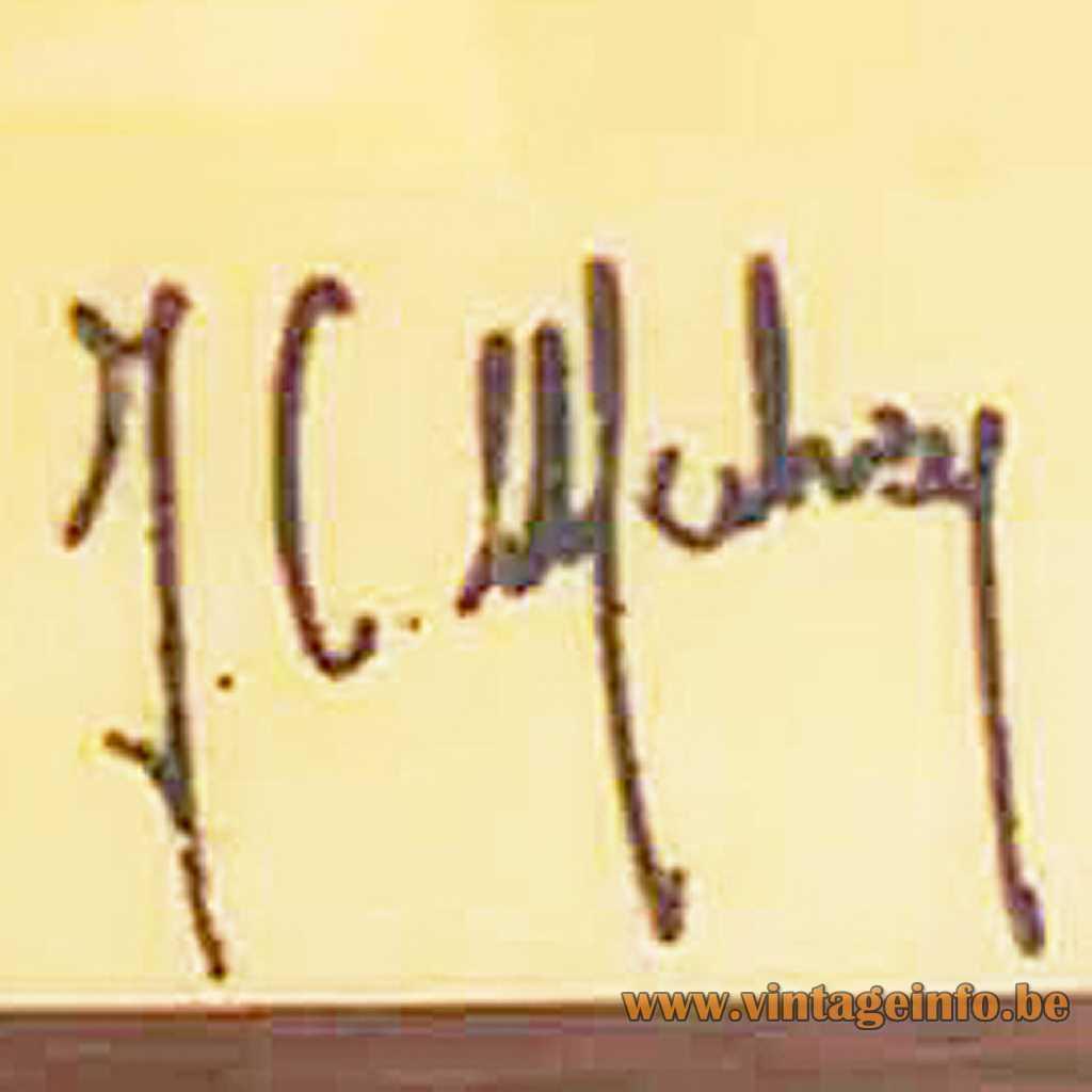 Jean-Claude Mahey Label, logo, signature