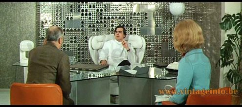 Joe Colombo KD 29 Kartell table lamp used as a prop in the 1969 film Hibernatus