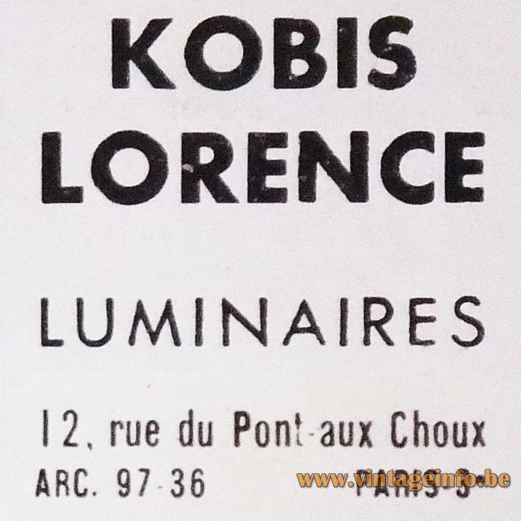 Kobis Lorence Luminaires Paris France logo