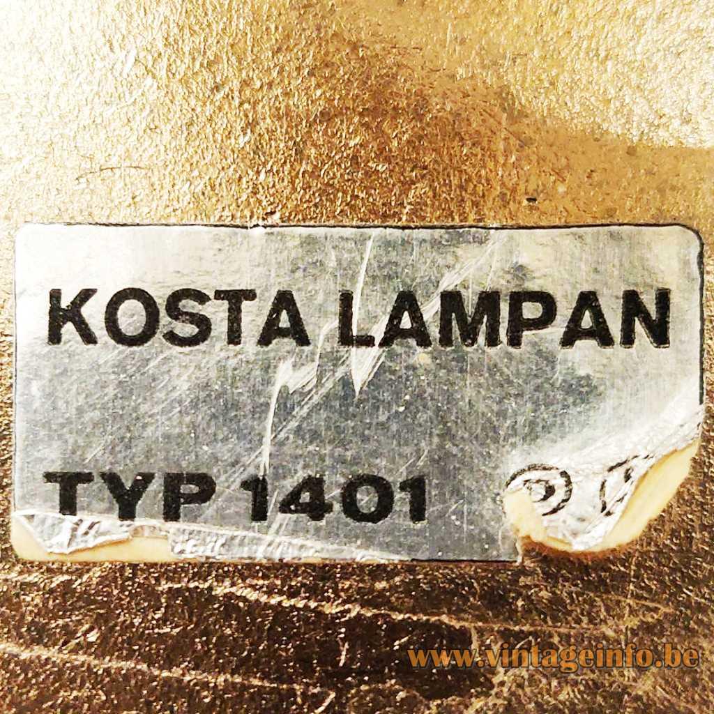 Kosta Lampan label