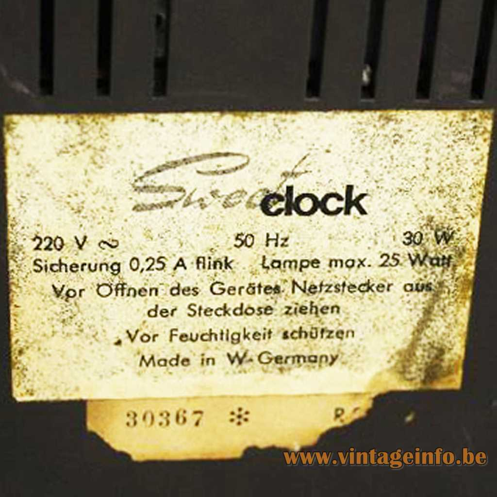 Kuba Clock Radio Lamp label