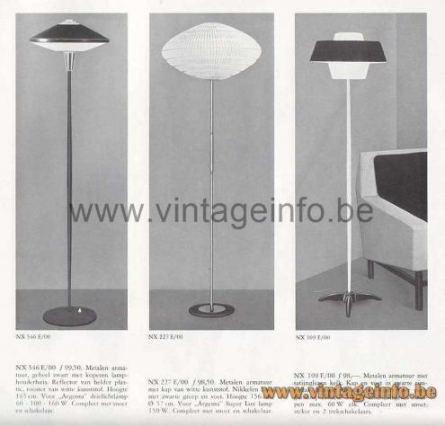 Louis Kalff NX 546 Floor Lamp - Catalogue Picture 1964-1965