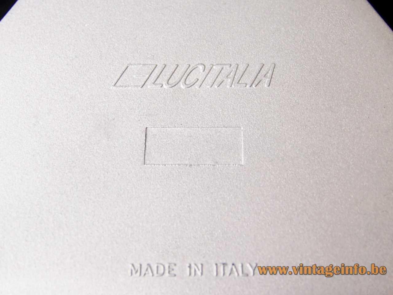 Lucitalia Kandido flush mount 1983 design: Ferdinand Alexander Porsche label logo 1980s Italy
