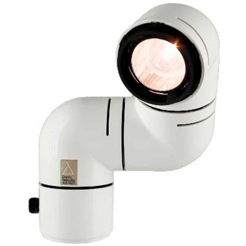 Metalarte Tatù table lamp design: André Ricard white plastic adjustable periscope caterpillar light glass lens 1970s