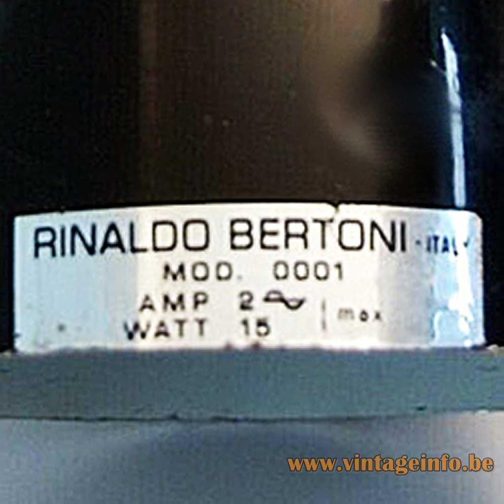 Rinaldo Bertoni label