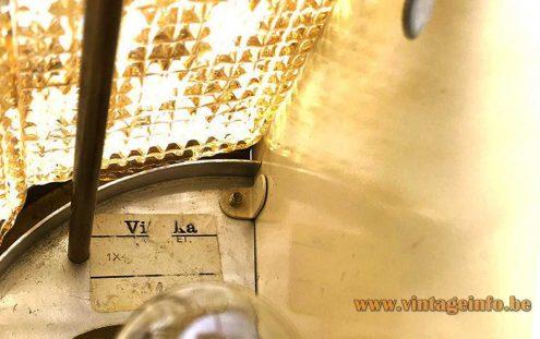 Vitrika amber glass wall lamp - Label
