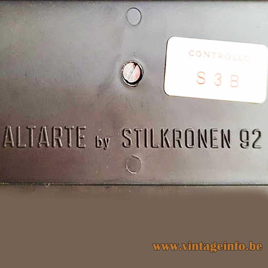 Altarta by Stilkronen pressed logo