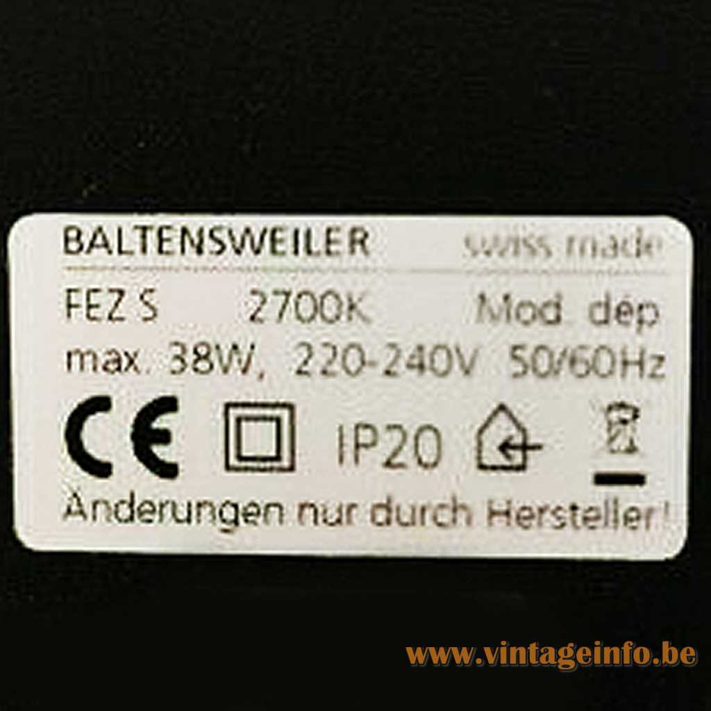 Baltensweiler label