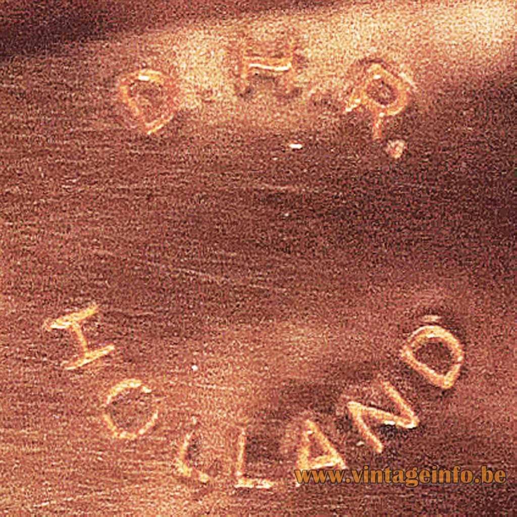 D.H.R. Holland stamped logo