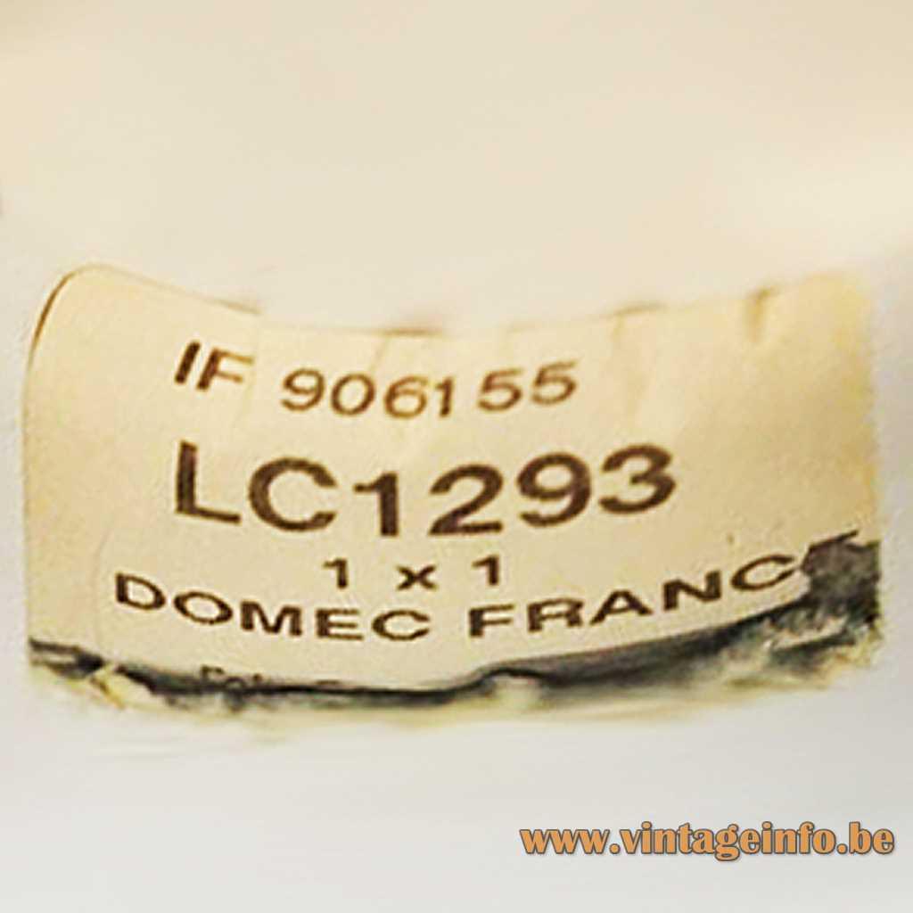 Domec Luminaires label