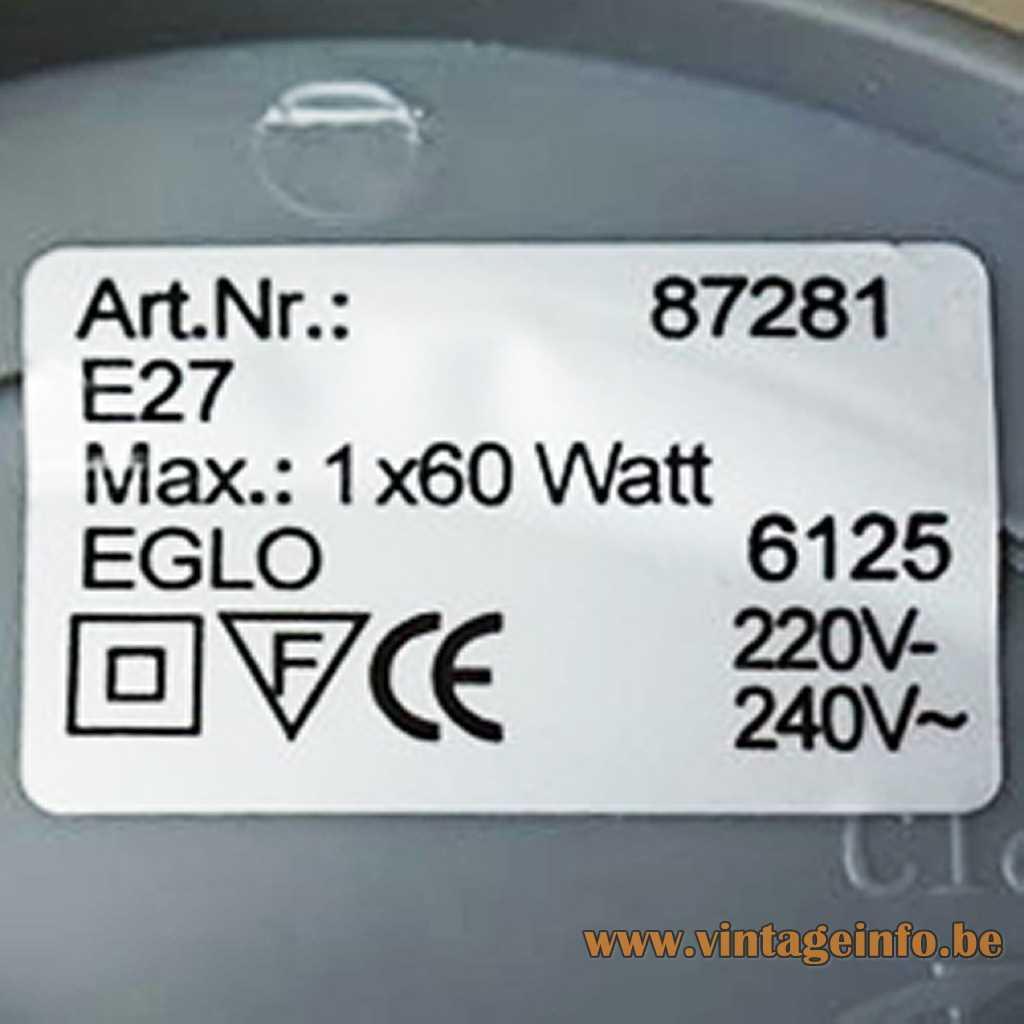 EGLO Leuchten label
