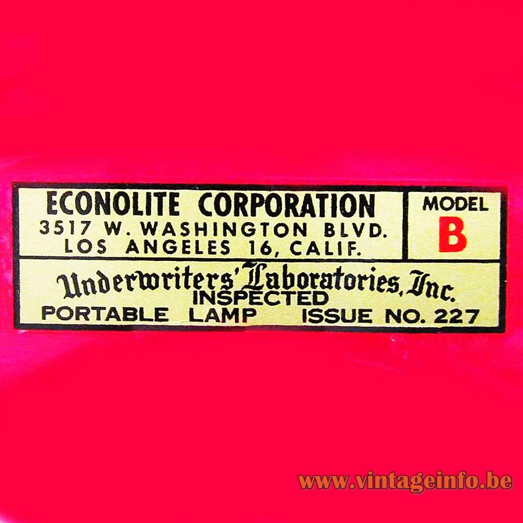 Econolite label