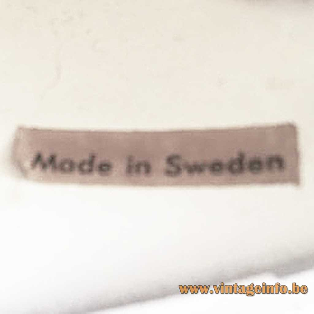 Einar Bäckström label - Made in Sweden