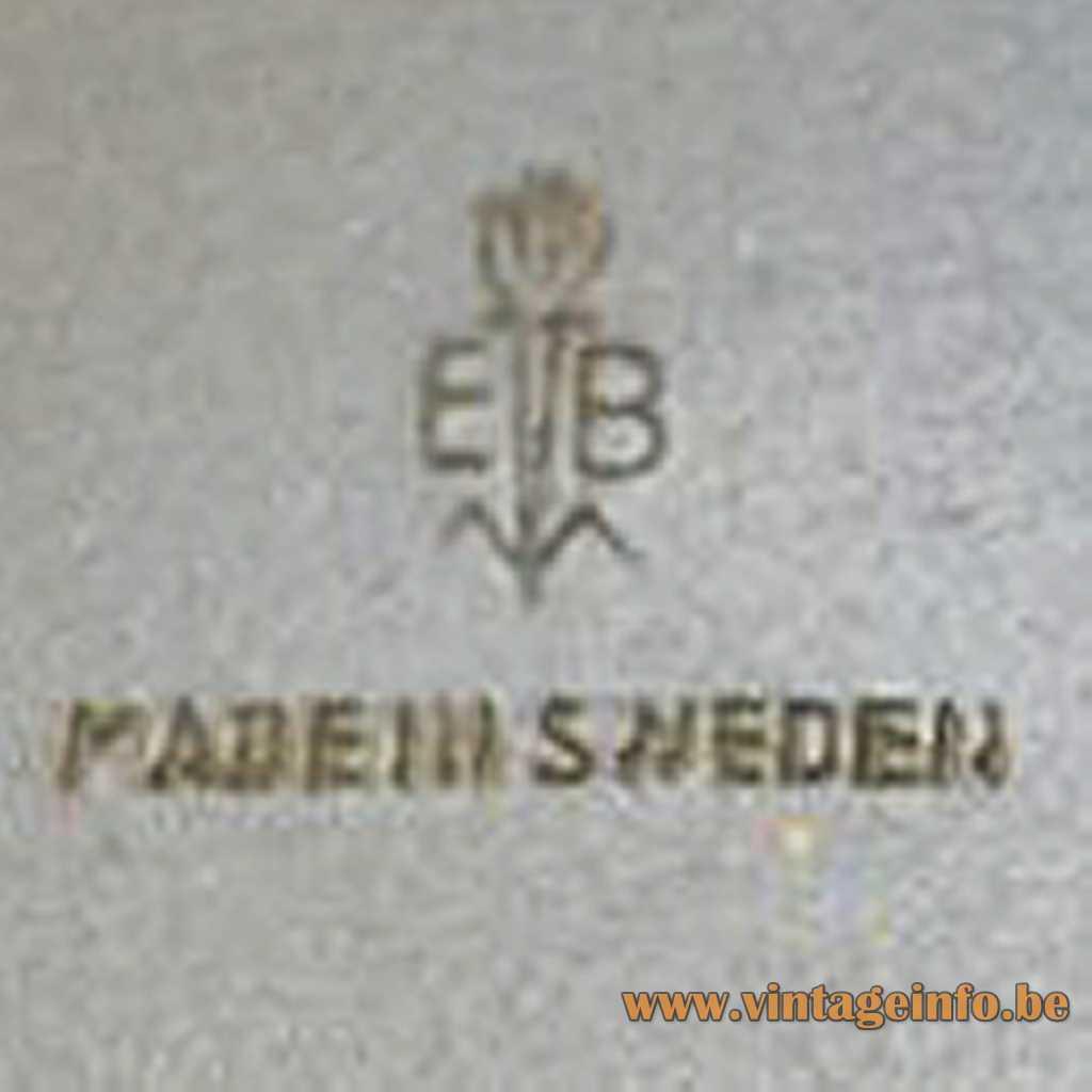 Einar Bäckström logo - EB Made in Sweden