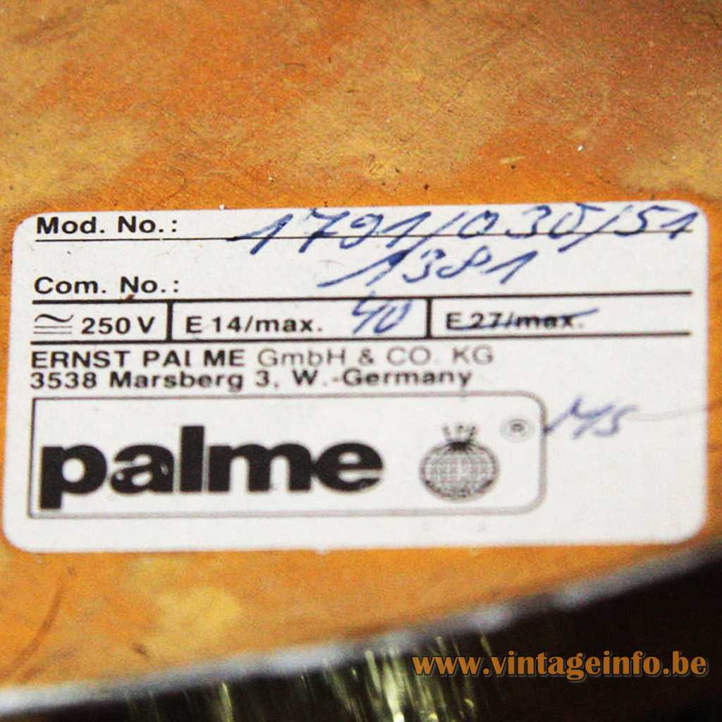Ernst Palme Gmbh & Co label
