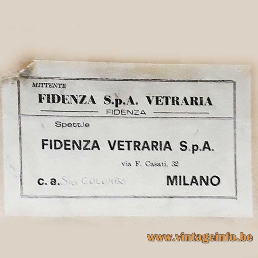 Fidenza Vetraria S.p.A. label