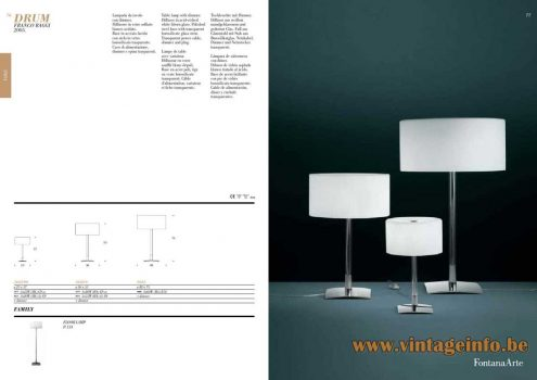 FontanaArte Drum Table Lamp - Catalogue Picture