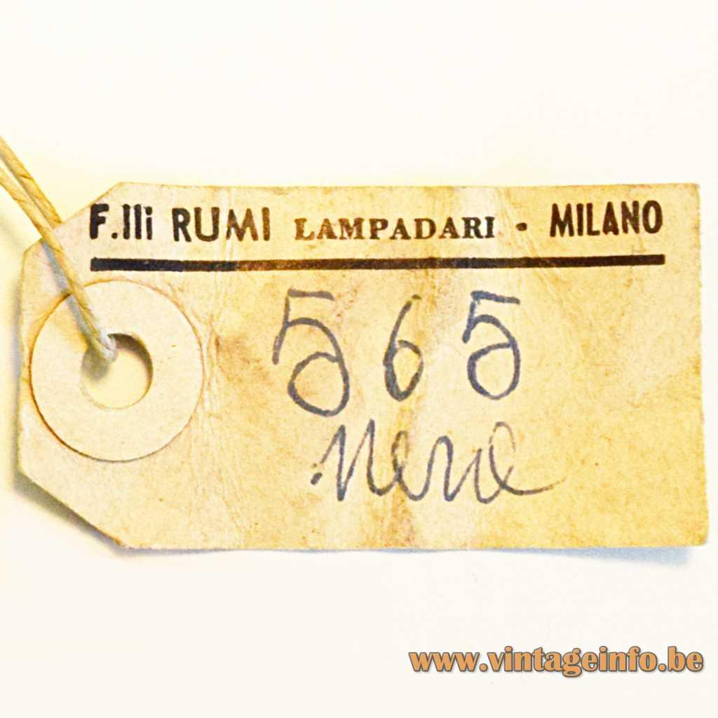 Fratelli Rumi Lampadari label