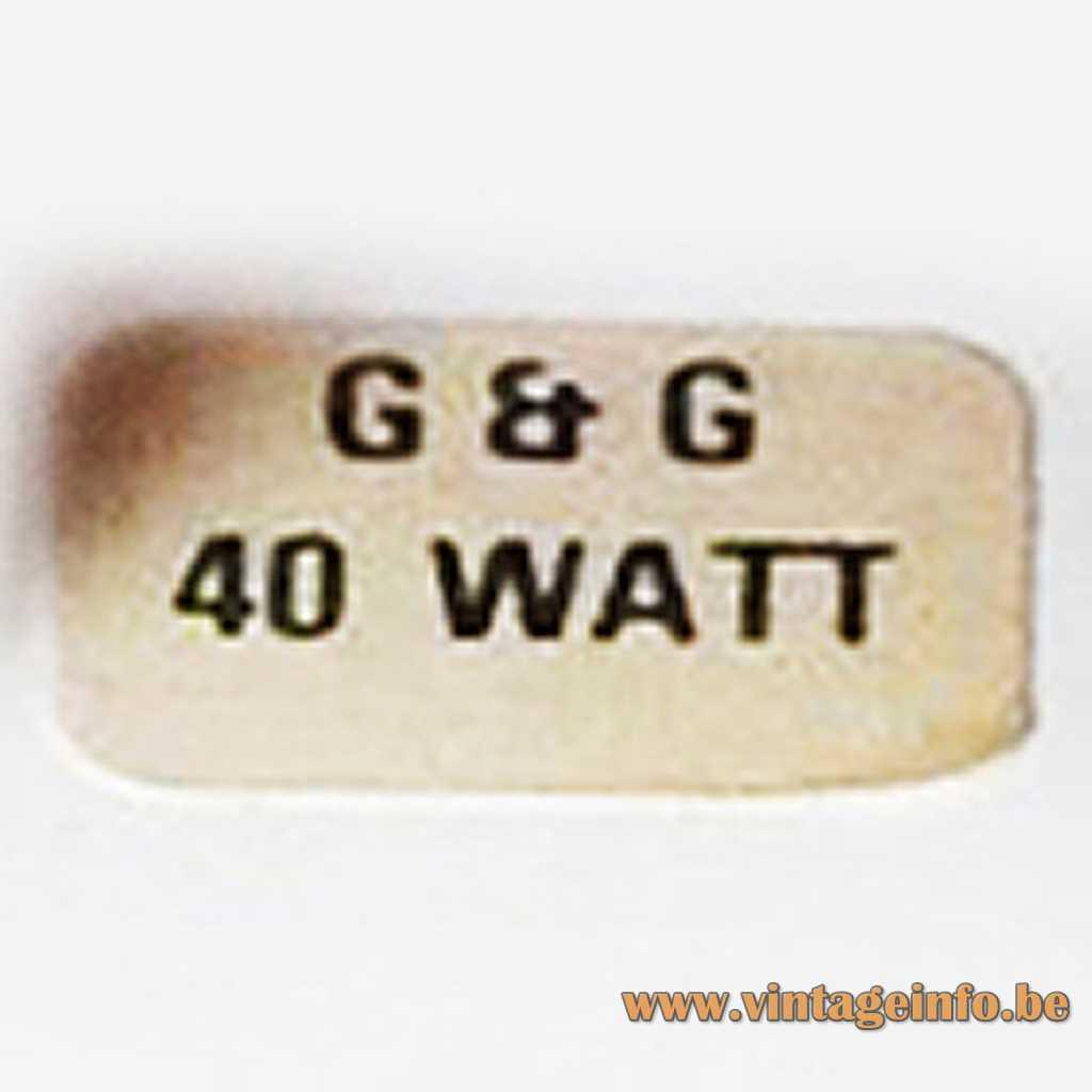 G & G label