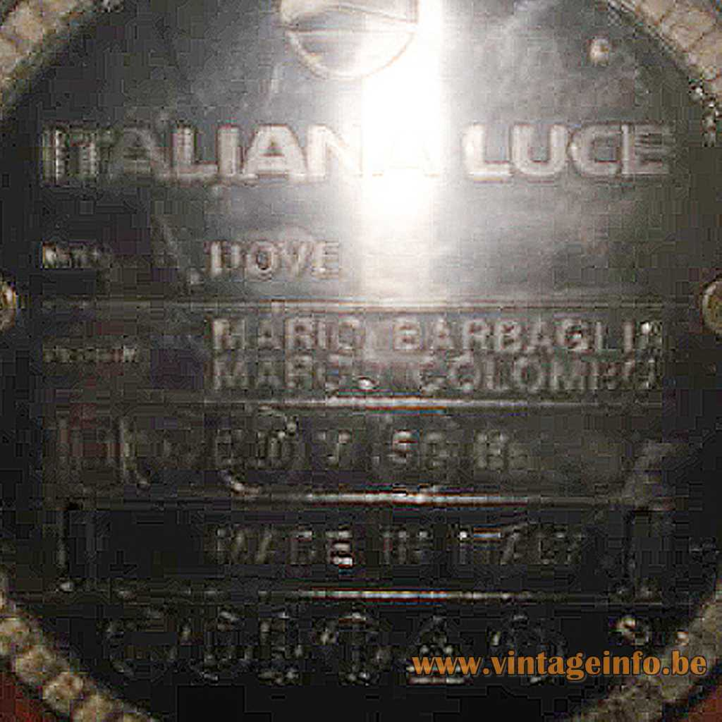 Italian Luce pressed logo - label