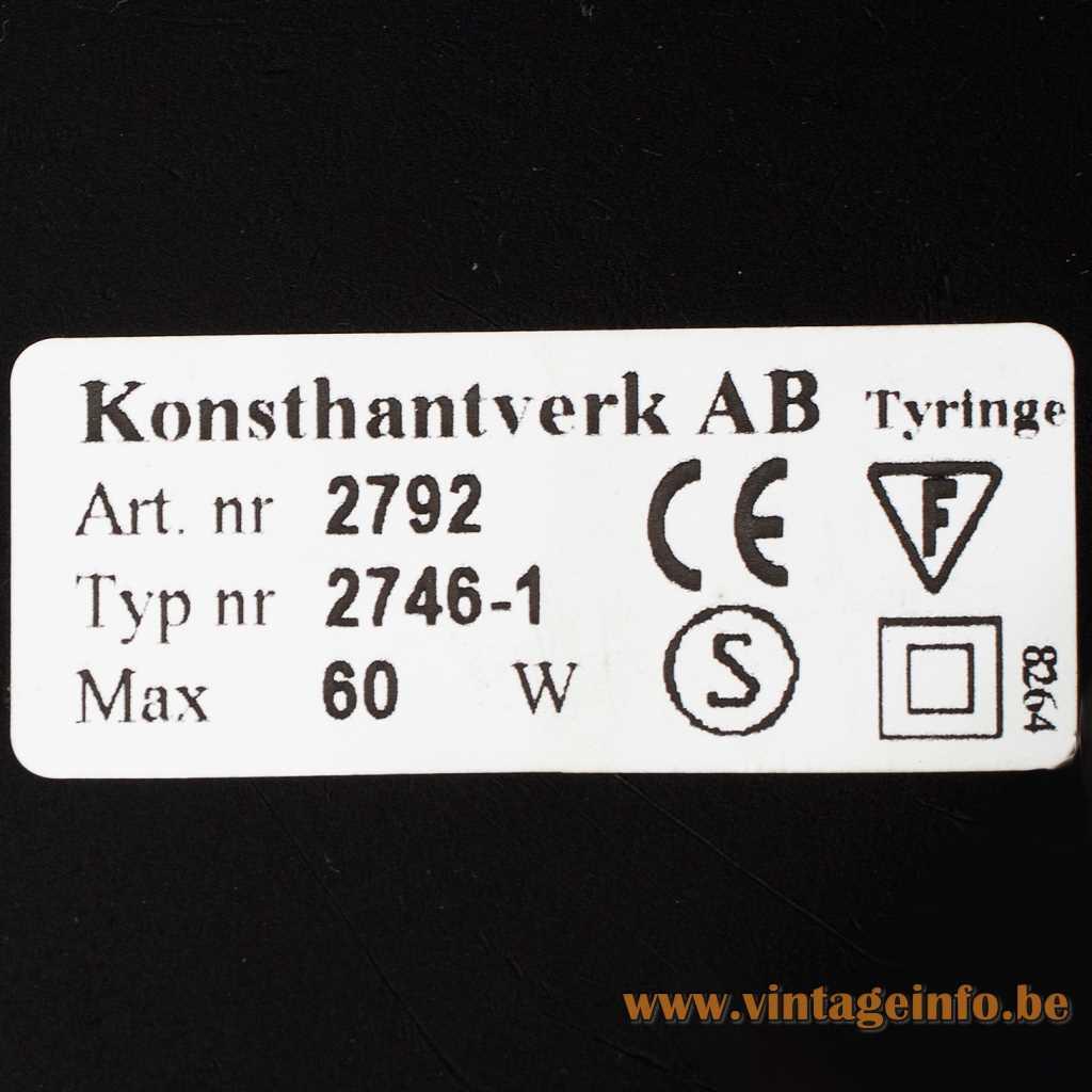 Konsthantverk AB Tyringe label