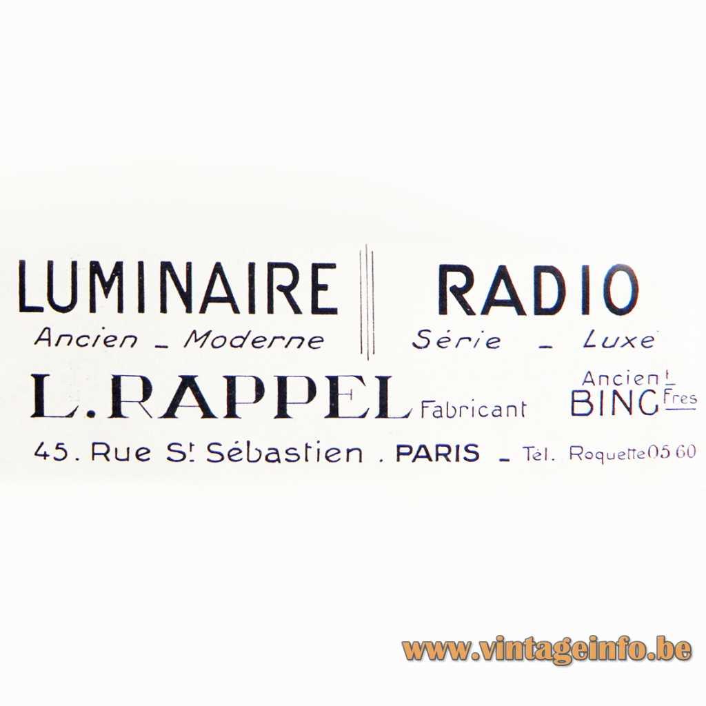 L. Rappel Luminaire Paris France Logo