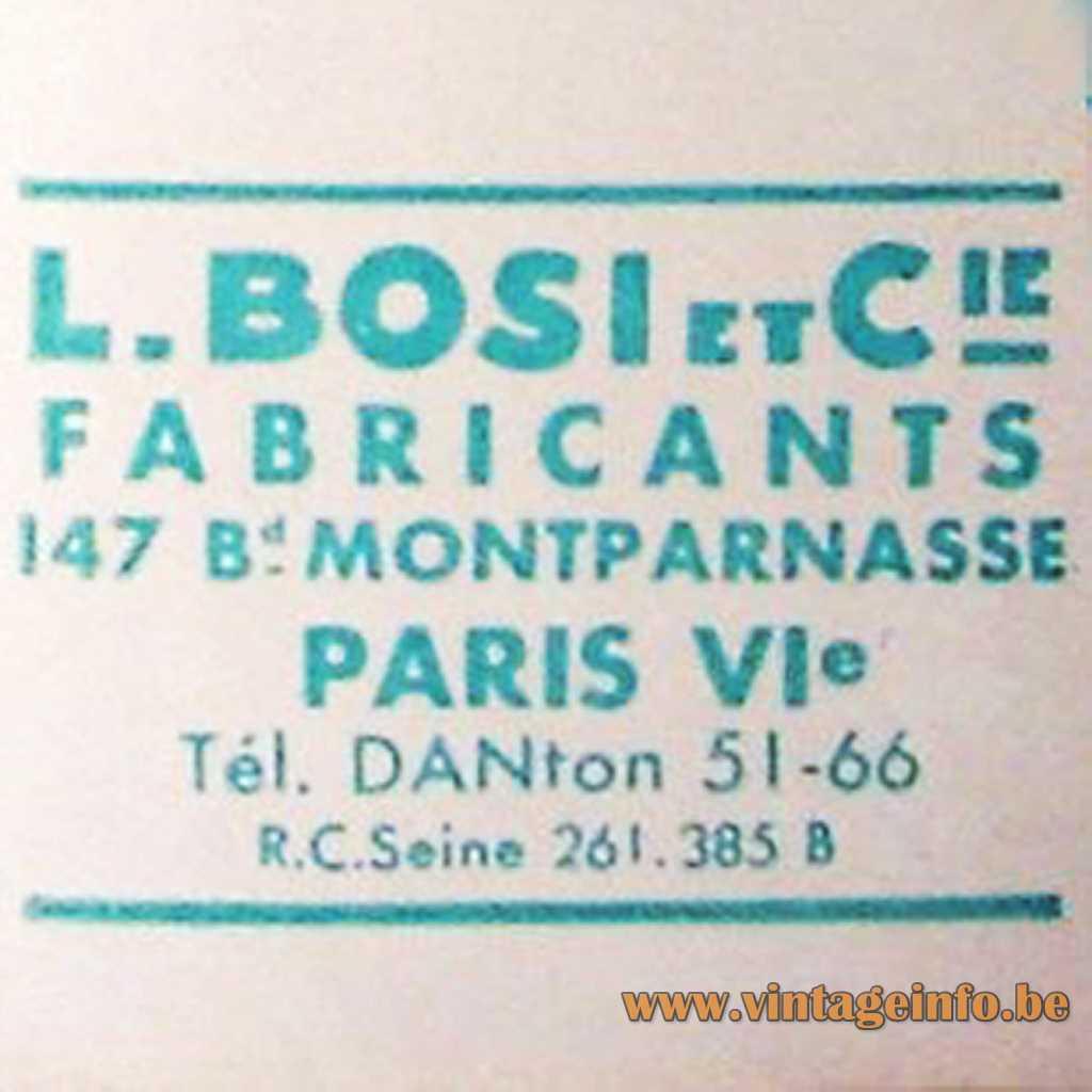 L. BOSI et Cie Fabricants Paris France logo