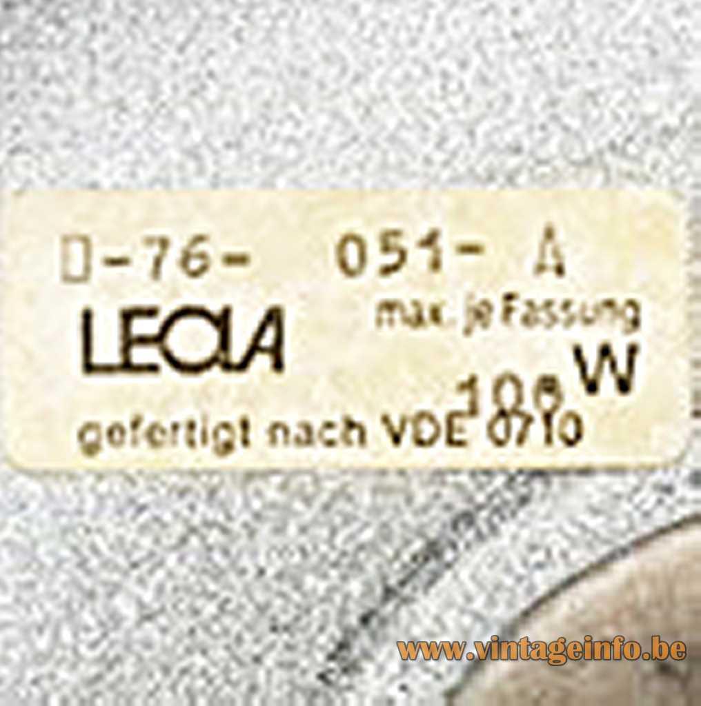 LEOLA-Leuchte label