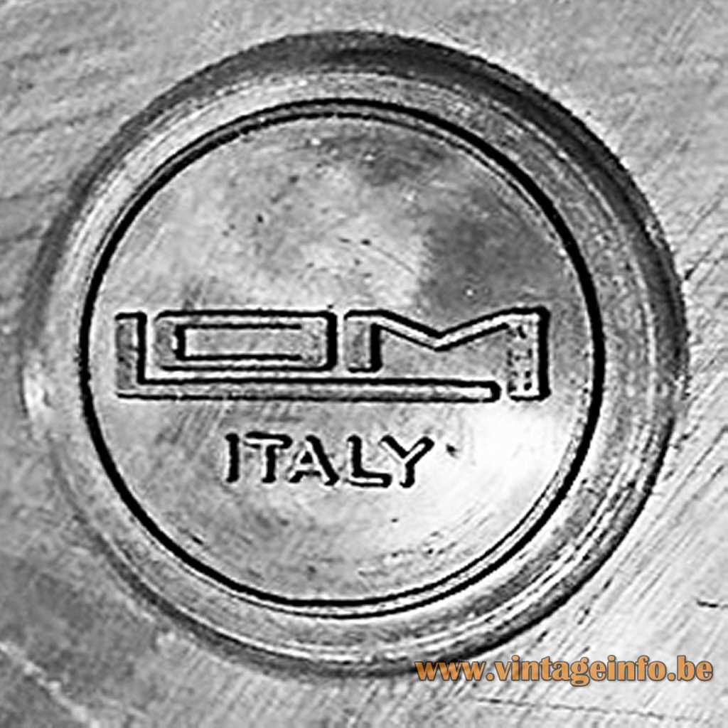 LOM Monza Italy pressed logo/label