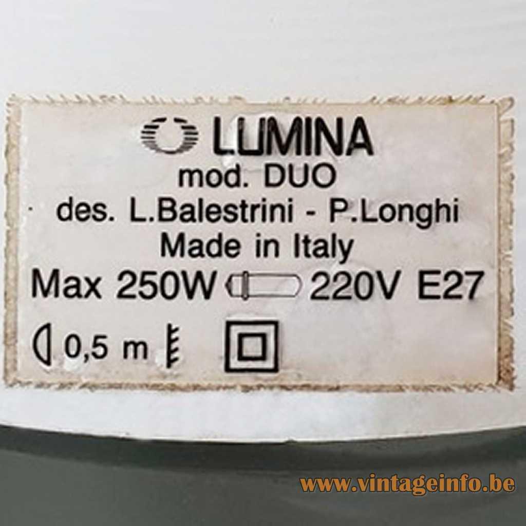 LUMINA label