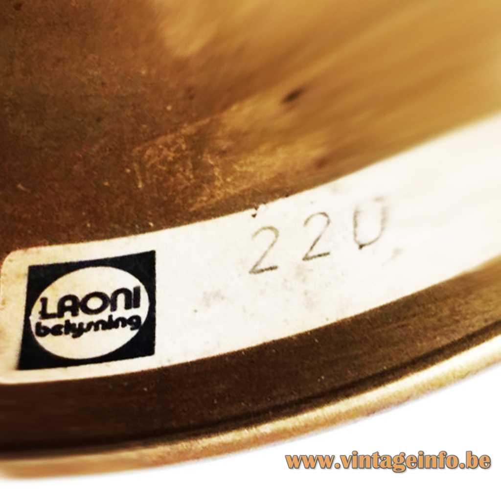 Laoni Belysning label