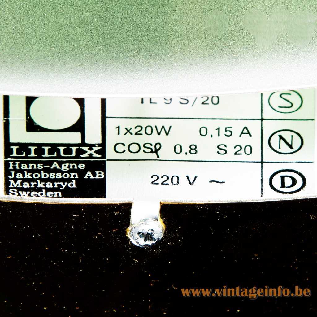 Lilux Hans-Agne Jakobsson AB label