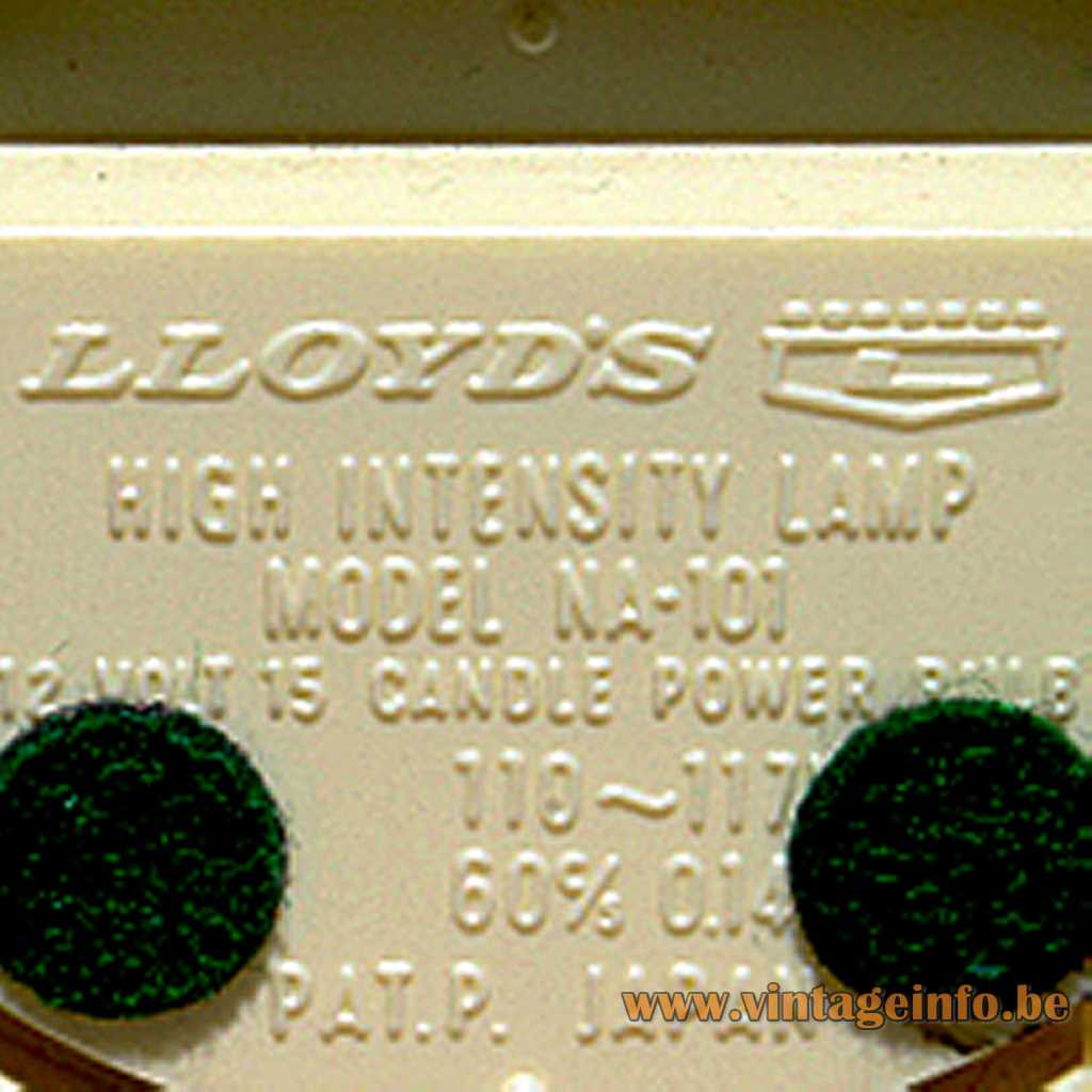 Lloyds Japan pressed label