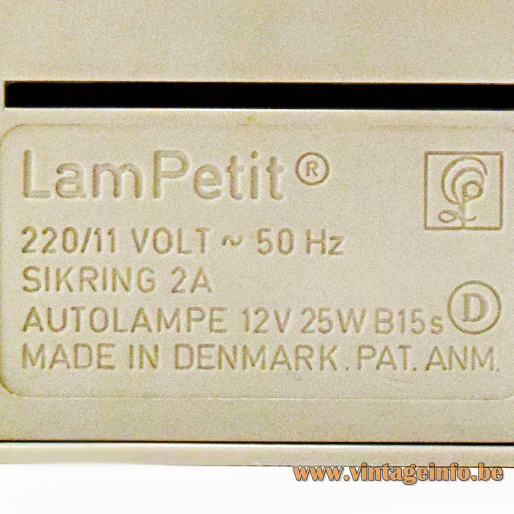 Louis Poulsen Pressed Logo LamPetit lamp