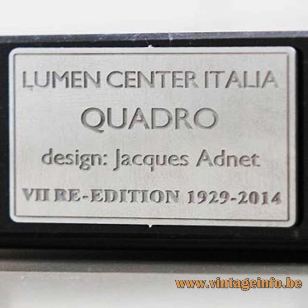 Lumen Center Italia - Jaques Adnet label