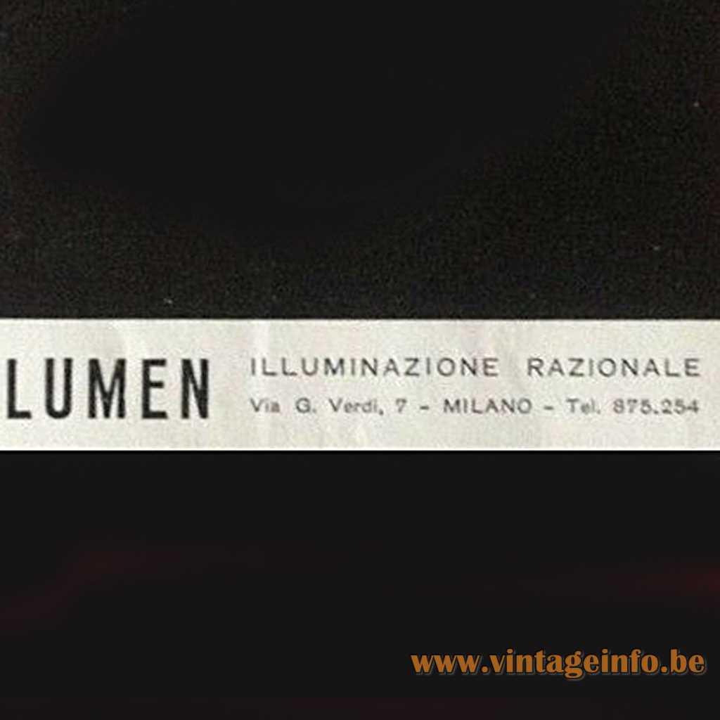 Lumen Illuminazione Razionale label, logo
