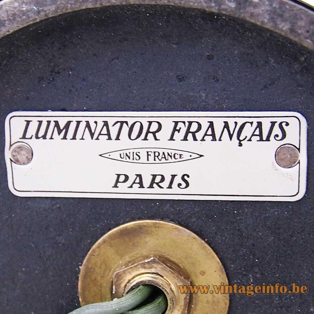 Luminator Paris France label