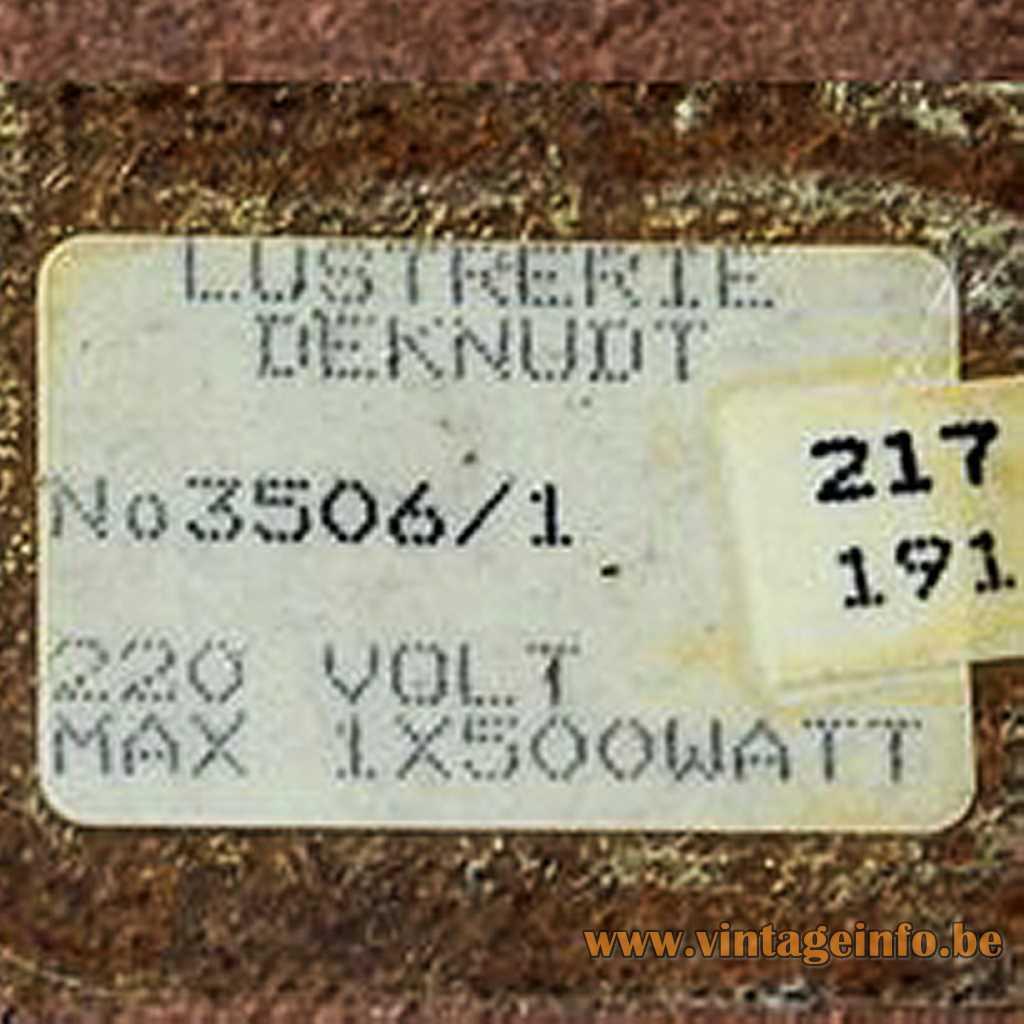 Lustrerie Deknudt label