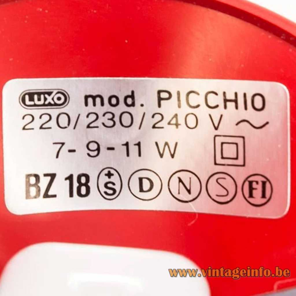 Luxo label