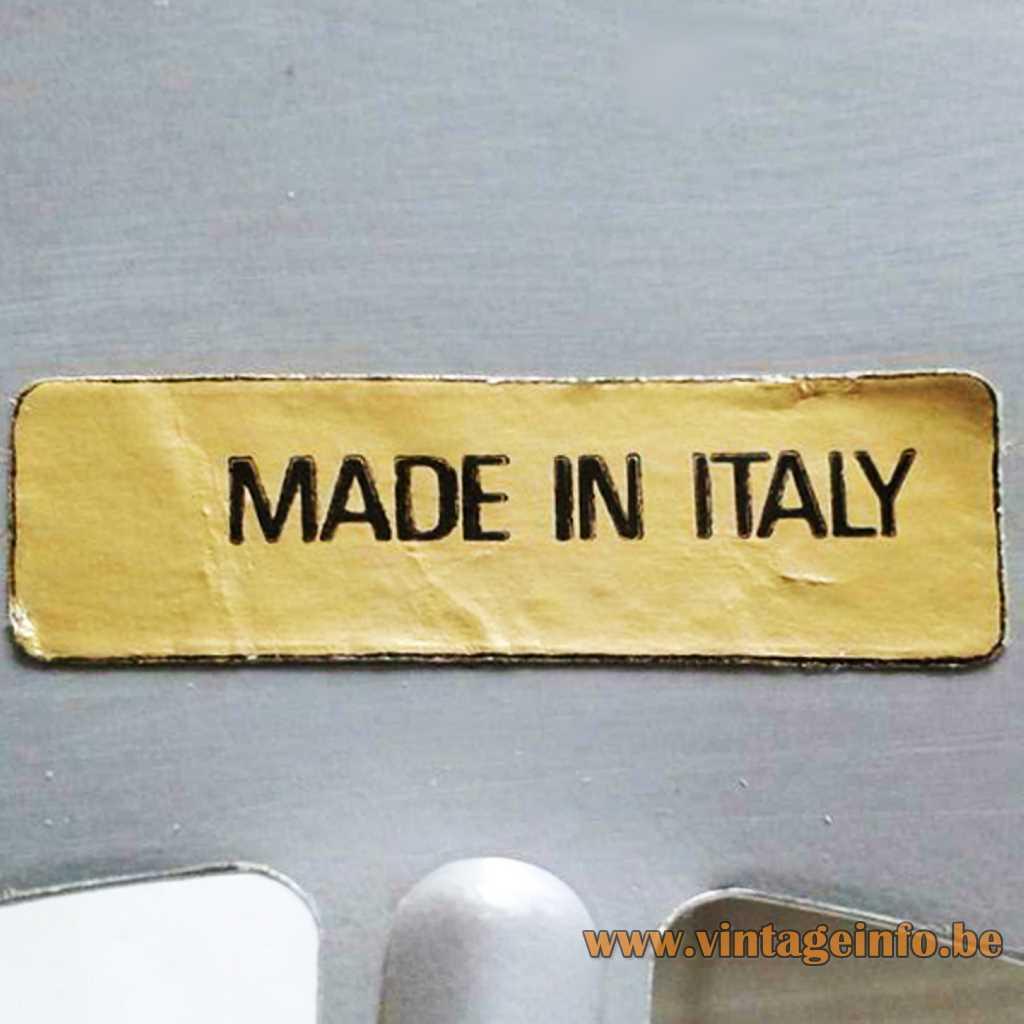 Made In Italy label - Vistosi