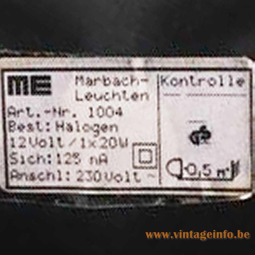 Marbach Leuchten label