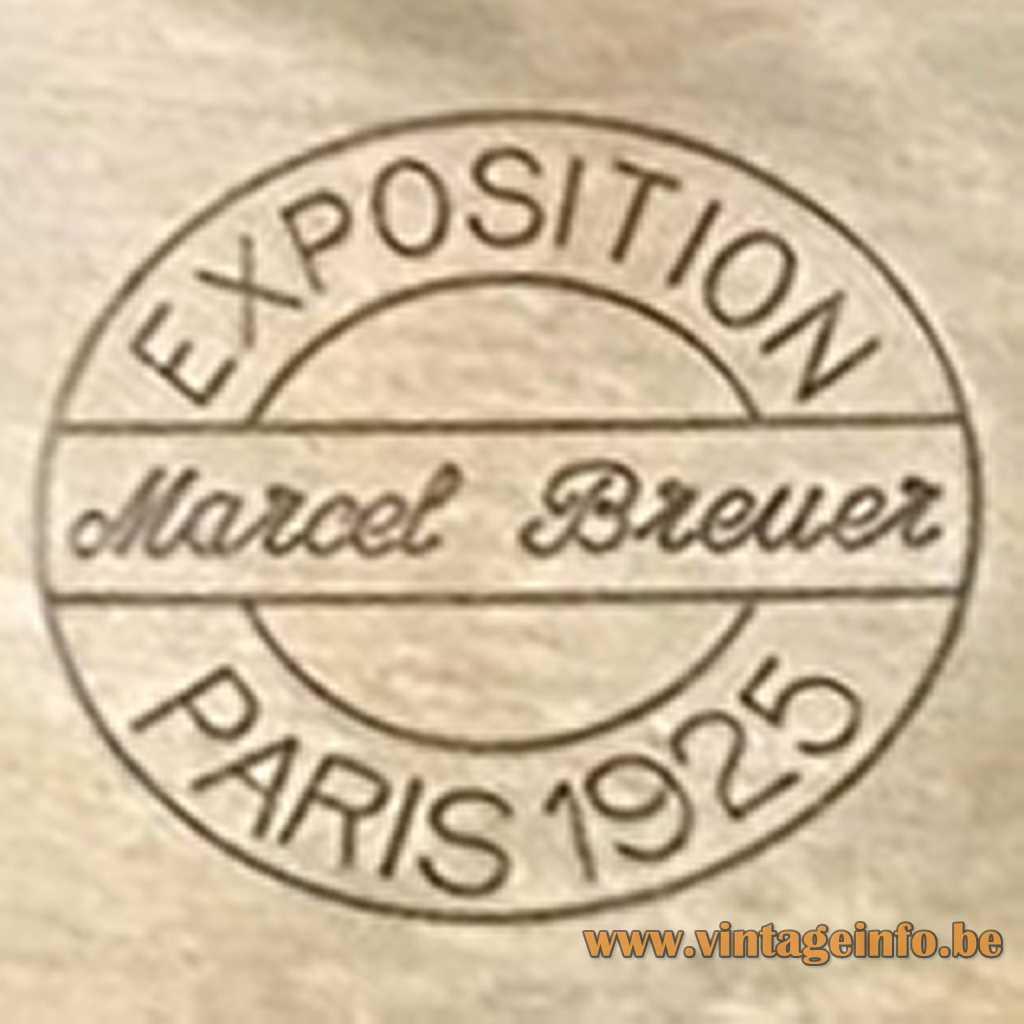 Marcel Breuer stamped logo