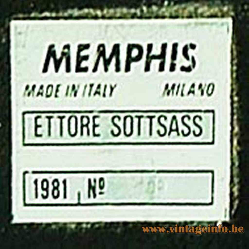 Memphis Milano label