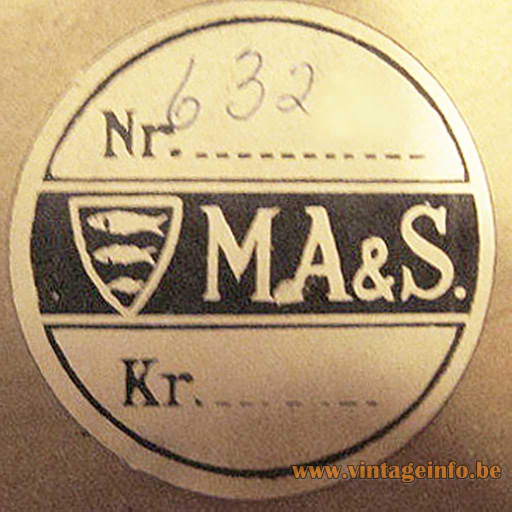 Michael Andersen pottery label