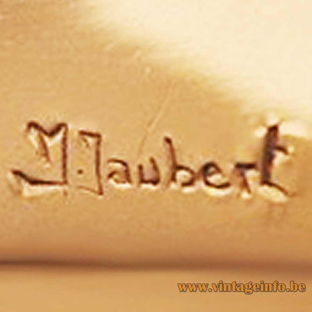 M. Jaubert - Michel Jaubert stamped label signature