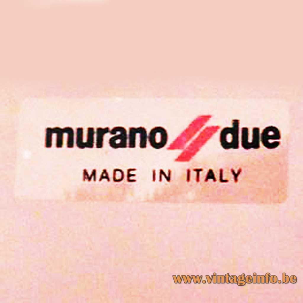 Murano Due label