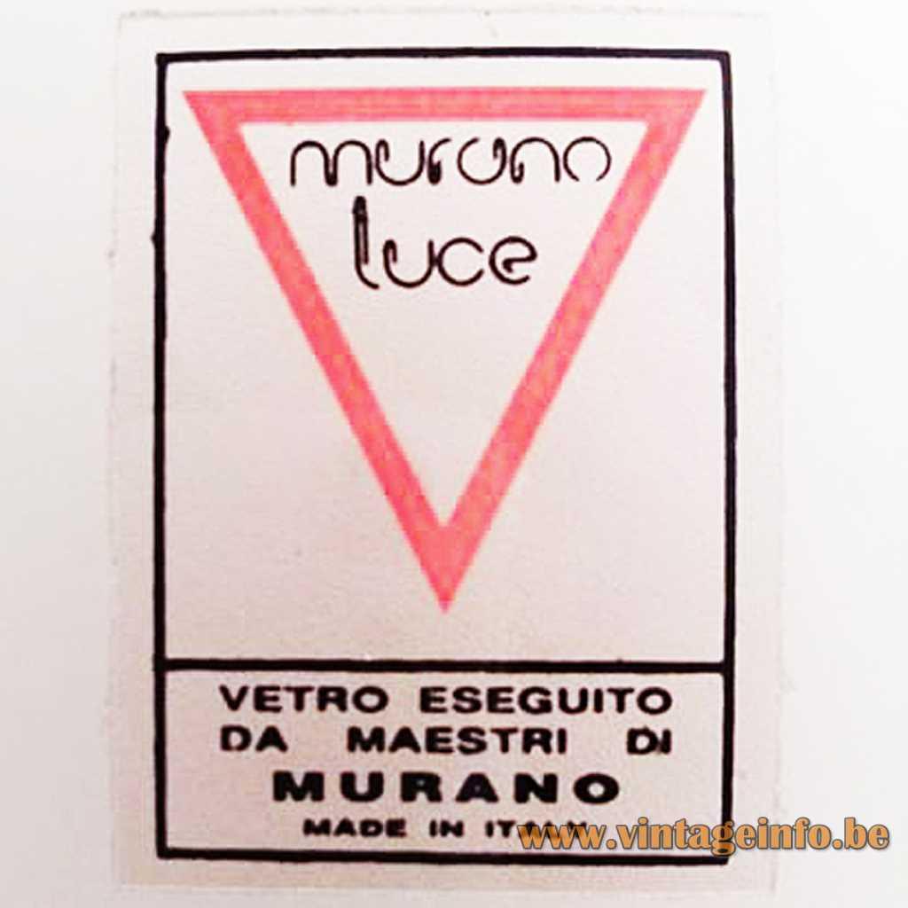 Murano Luce label