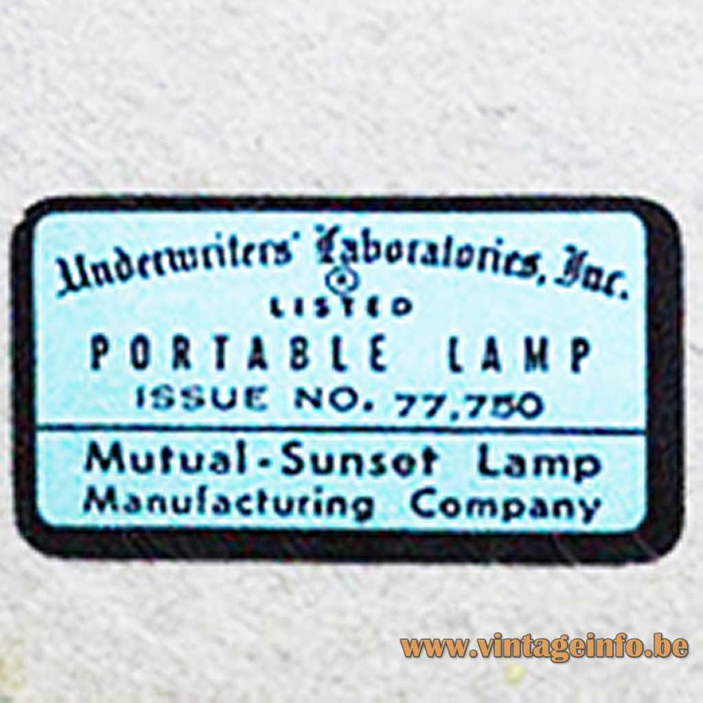 Mutual & Sunset Lamp manufacturing Inc.
