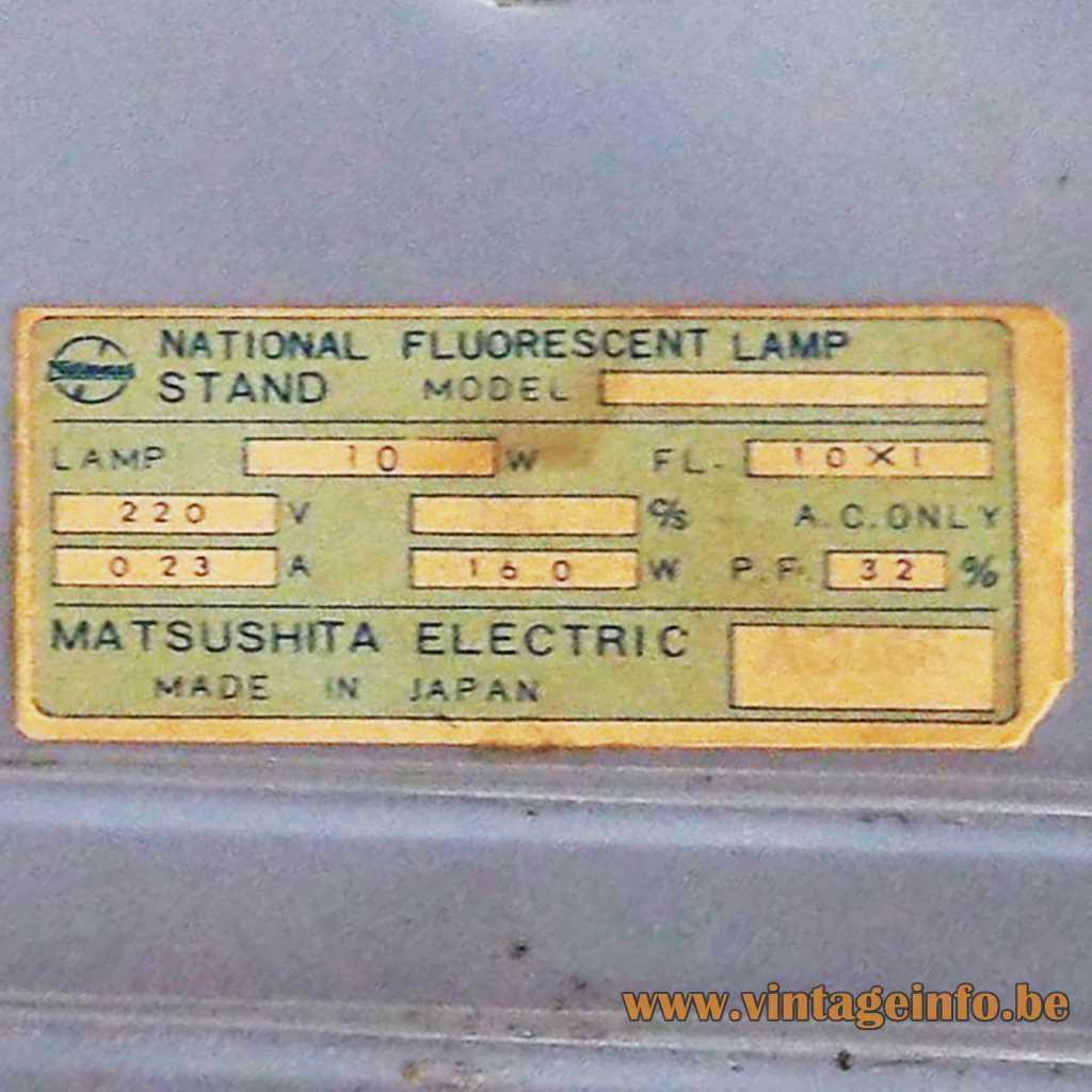 National Matsushita Electric Japan label