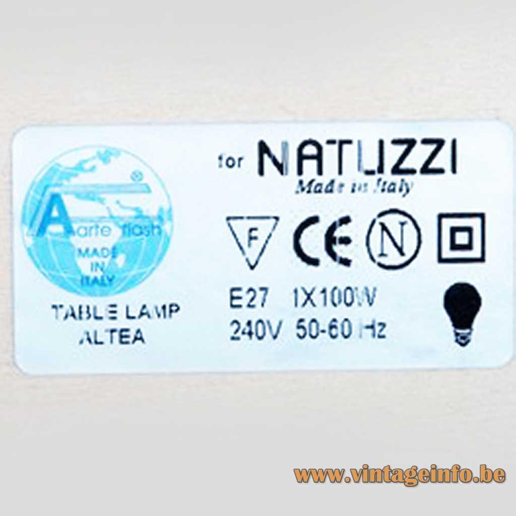 Natuzzi label